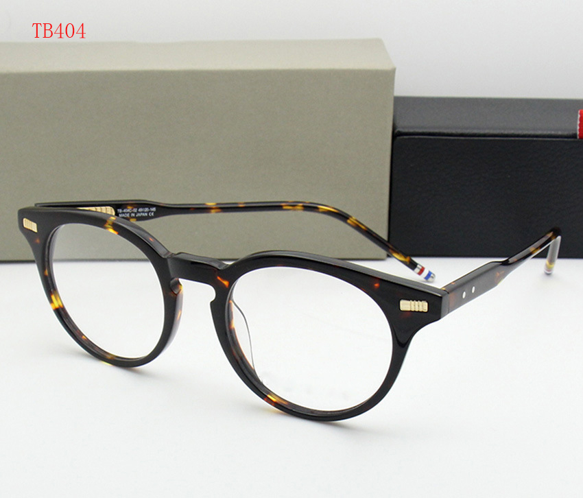 New York Brand THOM Round Eyeglasses Frame men women TB404 glasses Prescription Glasses Computer Optical round Frame with box image