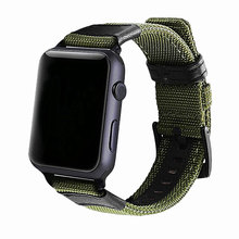 цена на For Apple Watch Band 44mm 40mm 42mm 38mm Nylon Watch Strap Replacement Bands with Metal Clasp For Apple iWatch Series 5/4/3/2/1