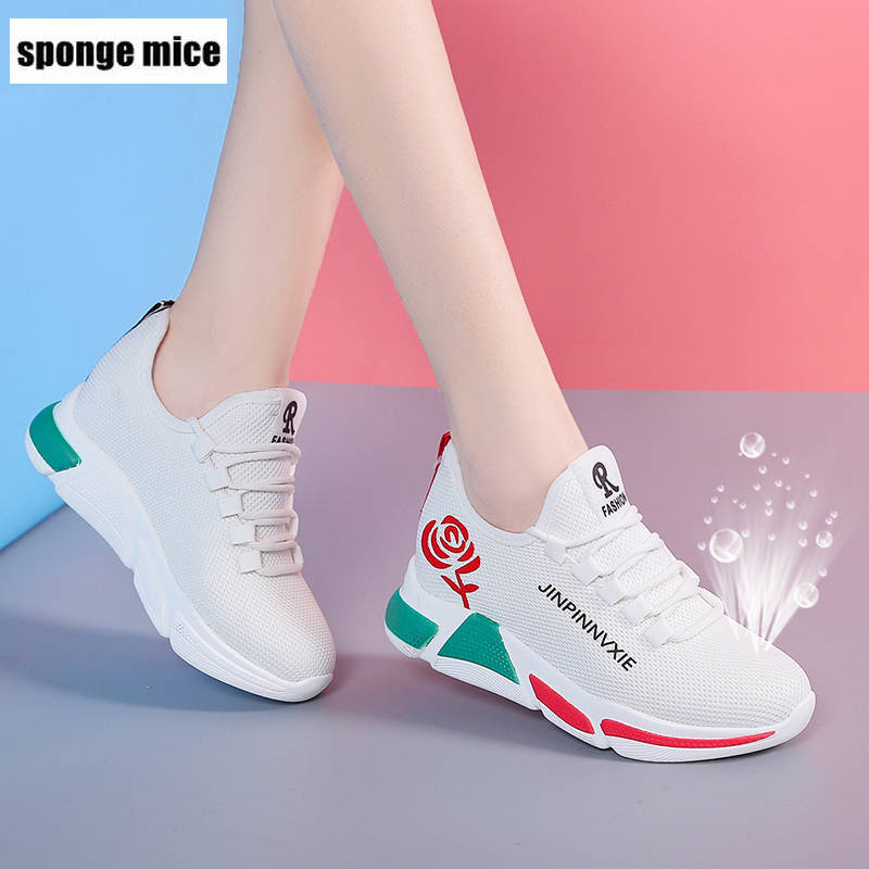 Flats Casual-Shoes Sneakers Walking Fashion Women Ladies New Mesh Spring Lace-Up B120