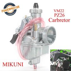 High Performance Mikuni VM22 Carburetor PZ26 26mm Carb carburador ForCRF70 125 140 150 160cc XR50 Lifan YX SSR Horizontal Engine