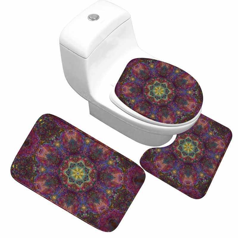החלקה אמבטיה אסלת מחצלת 3 חתיכה מושב כיסוי Footcloth סופג Lavtory רחצה שטיחים