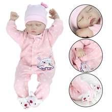 22 дюймов реалистичные новорожденных силиконовые виниловые куклы