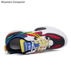 Image 2 - Mountain Conqueror 2019 Harajuku Autumn Vintage Sneakers Men Breathable Pu leather Casual Shoes Men Comfortable Fashion Sneakers