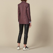 Plaid Office Ladies Blazer