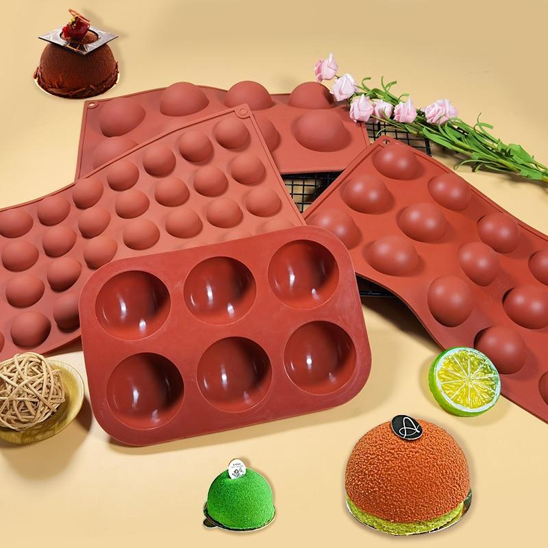Силиконовая форма для выпечки, форма для выпечки, силиконовая форма для выпечки, форма для кондитерских изделий, формы для сферических шари...