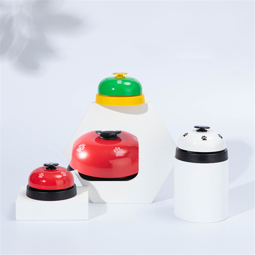Pet IQ Training Bell Cute Printed Cat Dog Practical Training Bells Pets Communication Device Puppy Called Dinner Reminder Feeder-5