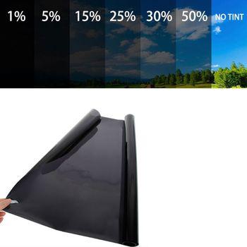 Ciemny czarny folia na okna samochodu wewnątrz jednokierunkowa kontrola odblasków odporne na wysokie temperatury Auto lato ochrona przeciwsłoneczna prywatność łazienka strona główna tanie i dobre opinie 40 -60 CN (pochodzenie) 60 -80 0inch 50cm Zabezpieczenie słoneczne na bocznym oknie Folie okienne i ochrona słoneczna