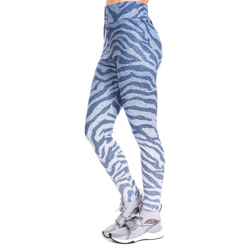 Zebra imitate Jeans Print Legging Push Up Fashion Pants High Waist Workout Jogging For Women Athleisure Leggings