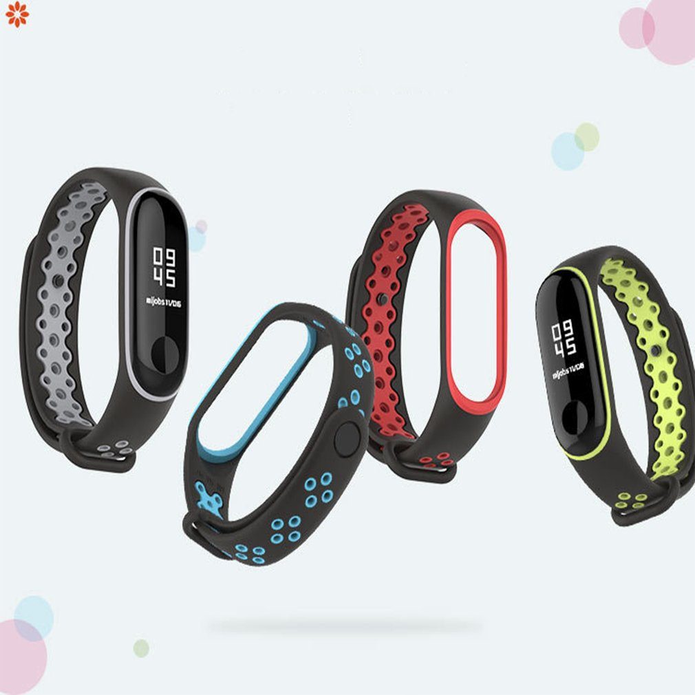 For Xiaomi Mi Band 3/4 Replacement Silicone Sport Wristband Women Men Smart Watches Replacement Bracelet For Dropshipping