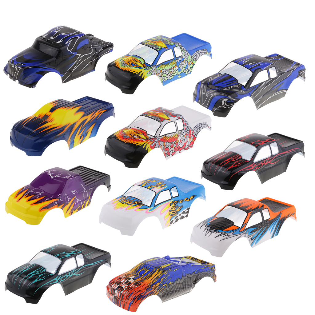 RC Body Shell Bodywork Pre-painted Cover Replacement For HSP 94188 94111 94108 1/10 Monster Truck Parts