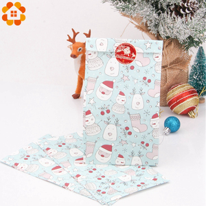 Image 5 - 1SET Mix Types Deer Snowflakes Candy Gift Bags With Stickers Merry Christmas Guests Packaging Boxes Christmas Party Gift Decor