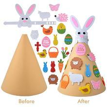Детское украшение Пасхальный кролик Сделай Сам войлочный кролик набор с аксессуарами Пасхальный подарок для детей украшение стены дома двери