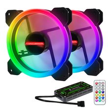Light Rgb Chassis Fan 12Cm New Desktop Computer Cooling Fan Colorful Color Aurora Silent Fan newest white pro 120 120 25 mm cool led backlight pwm chassis fan desktop computer case mod cooling water cooling fans 12cm