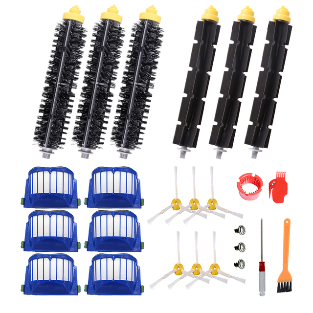 6 Armed Side Brush Replace Parts For Roomba 528 595 620 650 760 770 780 NN