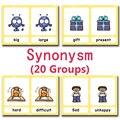 Детские Обучающие карточки Antonyms  Обучающие игрушки на английском языке  Детские пазлы