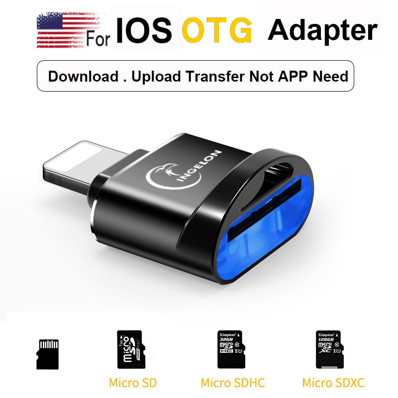 Mobile Phone Adapter for Lightning to micro SD Converter 3. 0 For iPhone 7 8 6s Plus 11 Max XS XR OTG for iOS 13 TF Memory Card