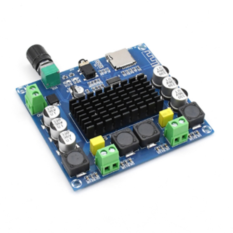 XH-A105 Digital Bluetooth 5.0 Amplifier Board TDA7498 2x100W Stereo Audio AMP Module Support TF Card AUX