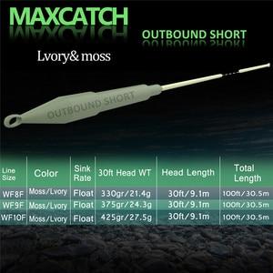 Image 2 - Maximumcatch Outbound 6/7/8/9/10wt krótka żyłka wędkarska 100FT waga do przodu żyłka słonowodna z 2 zgrzewanymi pętlami