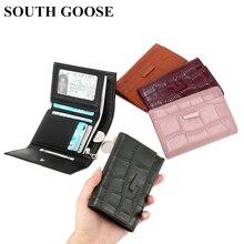 Женский кошелек из натуральной кожи, модный короткий кошелек для девочек, дизайнерский держатель для карт, сумочка для денег