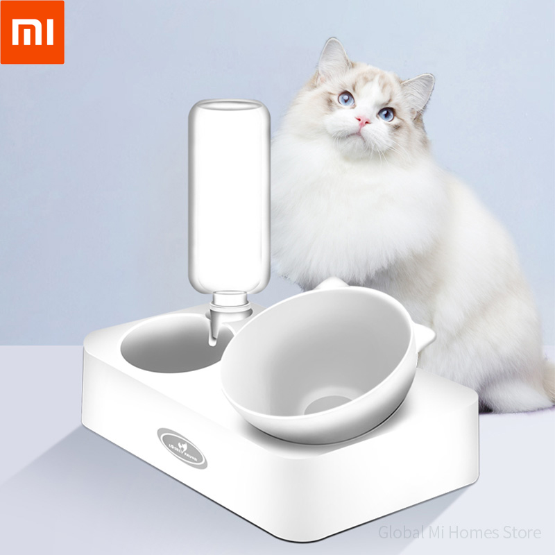 Xiaomi Youpin LUXIANXIN Cat Bowl Double Bowl Automatic Drinking Pot Dog Food Bowl Pet Water Bowl Anti-knocking Pot Cat Products