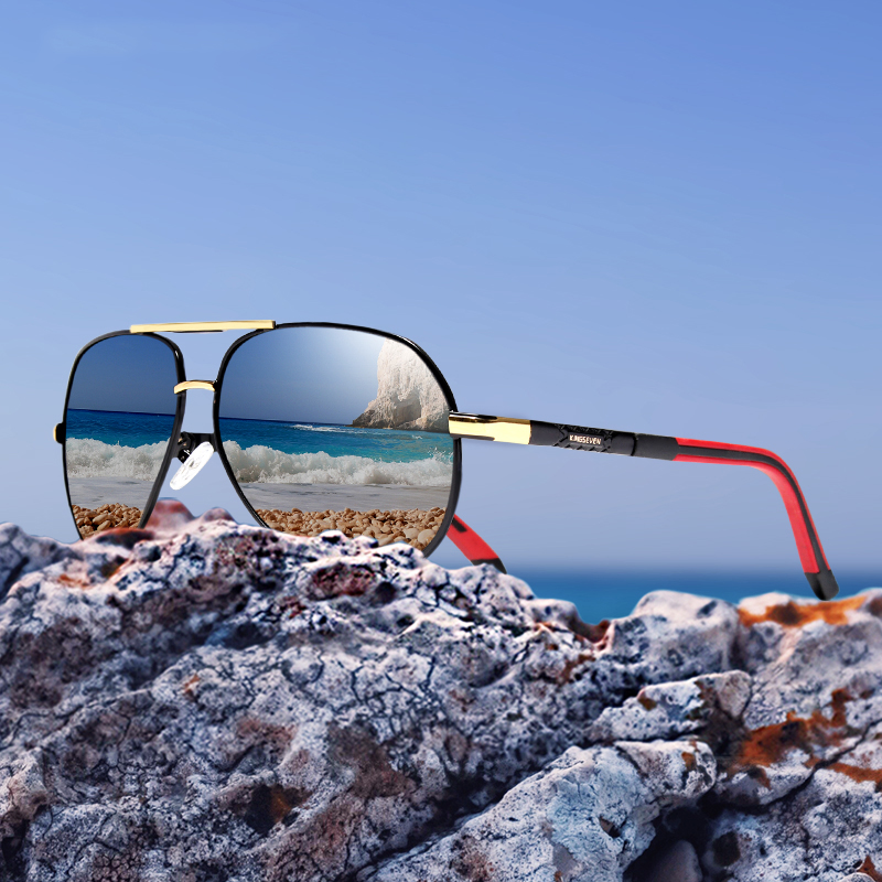 Original Brand Designer Design Sunglasses Men Polarized Oval Alloy Luxury Retro Male Sun Glasses Driving Mirrors