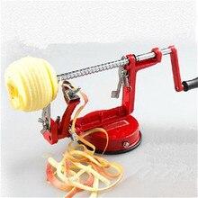 3 в 1 стальная машина для очистки фруктов, картофеля, яблока, Овощечистка, косилка, слайсер, резак для дома, ручная вырезание фруктов, картофелечистка