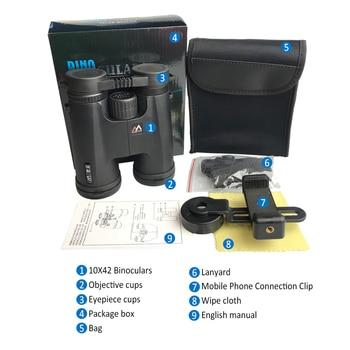 10X42 Binoculars Waterproof Professional Camping Hunting Telescope Zoom Bak4 Prism Optics with Binoculars Strap 5
