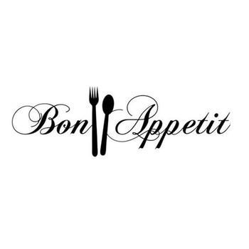 HOT SALES!!!New Arrival Bon Appetit Letters Spoon Fork Removable Wall Sticker Home Kitchen Decoration Wholesale Dropshipping image