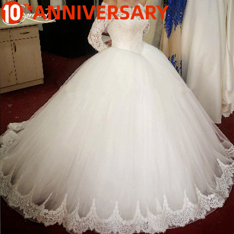 OllyMurs Simple Lace Sleeve Wedding Dress Off The Shoulder Suitable For Pregnant Women 100cm Tail Spring Summer Autumn Wedding
