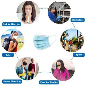 Image 5 - Masques jetables de bouche de visage 3 couches filtre protecteur masque anti poussière Non tissé de respirateur de contour doreille