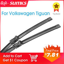 SUMKS Windscreen Wiper Blades for Volkswagen VW Tiguan Mk1 / Mk2 Fit Push Button Arms Model Year from 2007 to 2018(China)