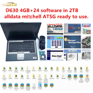Image 1 - 2020 hot for dell D630 4GB with 24 software in 2TB HDD auto repair software alldata 10.54 m..chell 2015 atsg 2017 ready to use