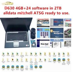 Image 1 - 2020 sıcak dell D630 4GB 24 yazılımı 2TB HDD oto tamir yazılımı alldata 10.54 m .. chell 2015 atsg 2017 kullanıma hazır