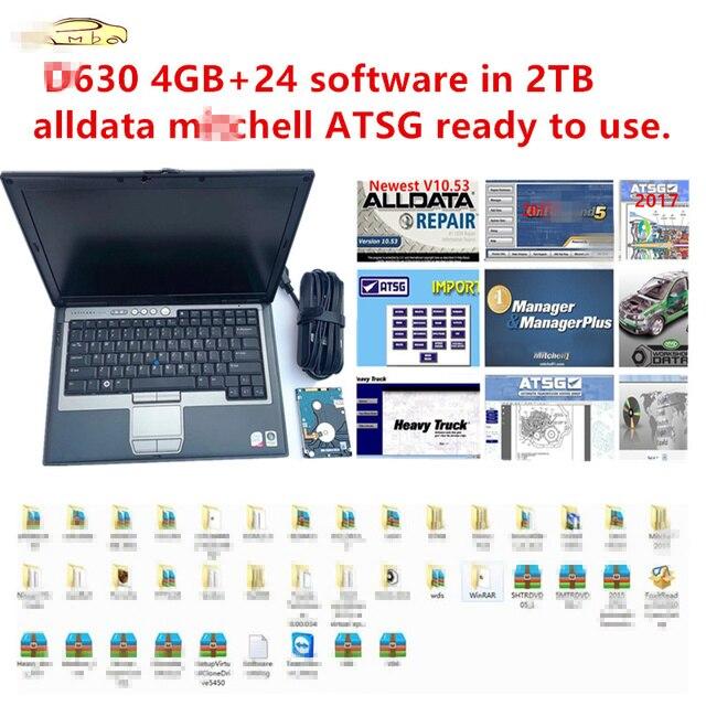 2020 sıcak dell D630 4GB 24 yazılımı 2TB HDD oto tamir yazılımı alldata 10.54 m .. chell 2015 atsg 2017 kullanıma hazır