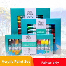 Textile-Paint Paints-Set Art-Supplies Acrylic Colored 10ml Brightly Professional 12/18/24-colors