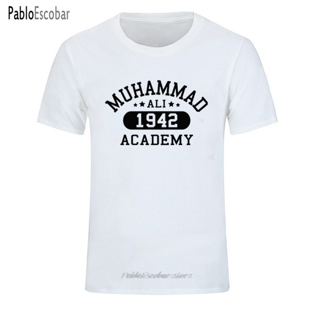 Muhammad Ali Academy Mens Boxing T-Shirt Training Top MMA Martial Arts Gym Boxer Men s T Shirt Fitness Brand tshirt Plus size