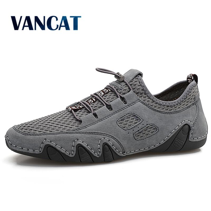 New Summer Men's Shoes Breathable Mesh Men Casual Shoes Comfortable Handmade Loafers Lightweight Soft Flats Shoes Men Sneakers