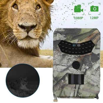 1080P 12MP Hunting Camera Trail Camera Infrared Night Vision Scouting Camera For Wildlife Hunting Monitoring Farm Security hc 800a 12mp 1080p infrared digital trail camera 120 degree wide angle night vision hunting camera wildlife scouting device