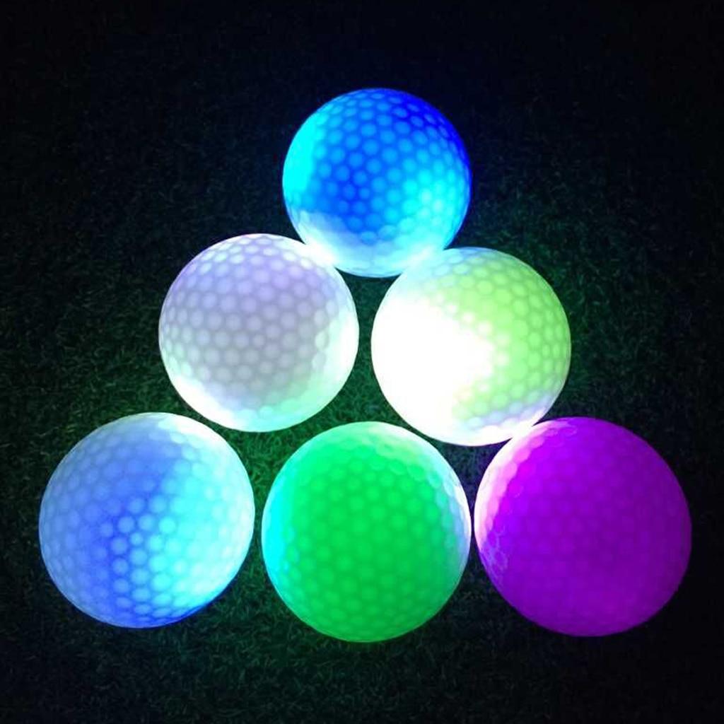 Glow In Dark Colorful LED Golf Balls Night Golfing Light Up Golf Balls