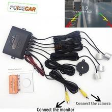 מקורי רכב חניה גלויה חיישן 4 וידאו מערכת צג מצלמה עיוור בטוח Parktronic מערכת רכב גלאי