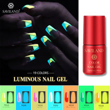 Saviland Menyala Dalam Gelap Nail Art Gel Bercahaya Neon Gel Cat Kuku Musim Panas Series Fluorescent Warna Uv Gel Varnish(China)