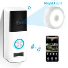 YIROKA беспроводной WiFi видеодомофон дверной звонок 720P дверной телефон визуальная запись домашний контроль безопасности с приемником ночной Светильник