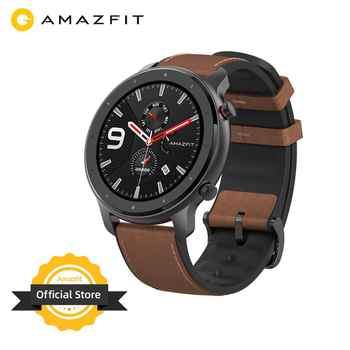 Version mondiale Amazfit GTR 47mm montre intelligente 5ATM nouvelle Smartwatch longue batterie contrôle de la musique pour téléphone Android IOS