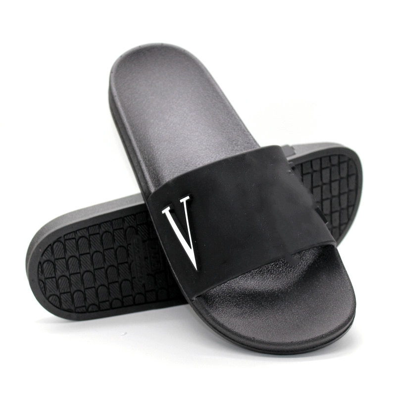 Fashion Pink Shoes Woman Summer Slippers Fretwork Letter Slides House Non-slip Sandals Couple Beach Flip-flops Comfortable Shoe