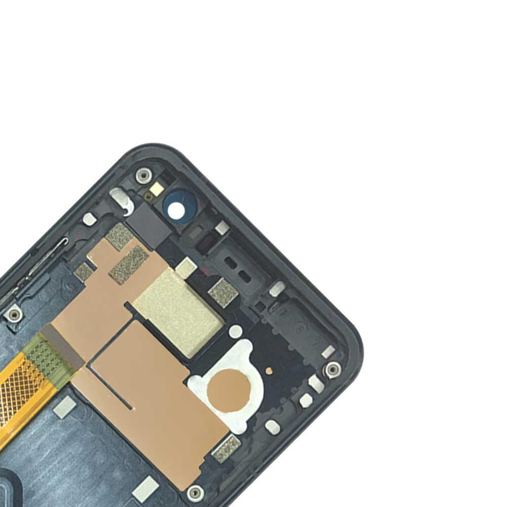 جديد نوعية جيدة شاشات الكريستال السائل مع الإطار ل HTC U11 شاشة الكريستال السائل محول الأرقام بشاشة تعمل بلمس مجموعة قطع غيار 100% اختبار العمل