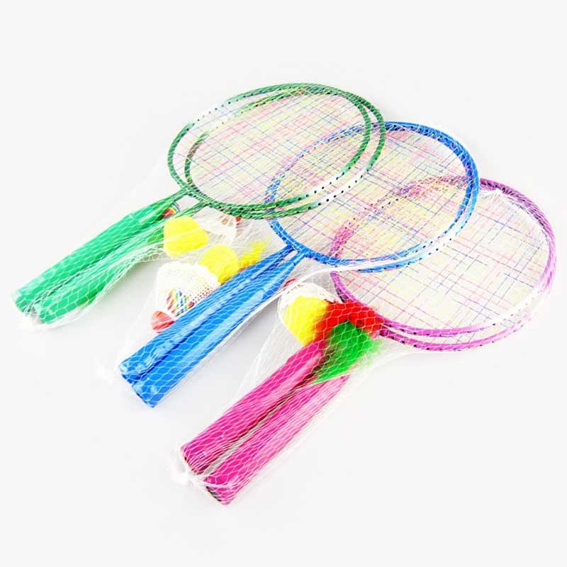 1 Pair Youth Children's Badminton Rackets Sports Cartoon Suit Toy For Children  SEC88