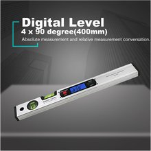 400mm 360 degree Digital Protractor Inclinometer Electronic Level Angle Finder Test Ruler without Magnets