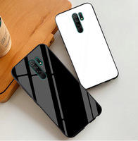 Xiaomi Redmi 용 강화 유리 케이스 9 9A 8 8A mi Note 10 lite 울트라 프로 커버 레드 미 노트 9S 9 Pro Max 9T SE 8 8T 7 하드 케이스
