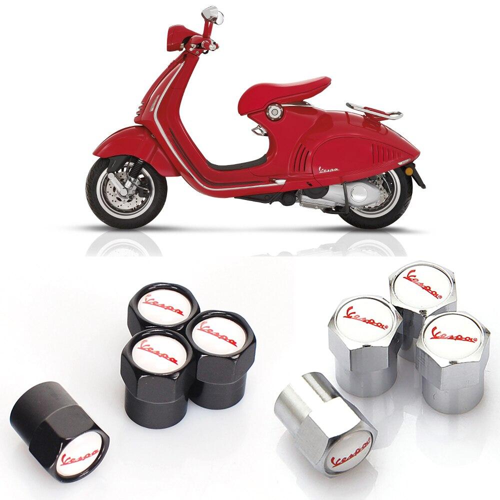 Electric Scooter Tire Valve Caps Air Tyre Stems Cover 6corners For Piaggio Vespa Primavera 150 SPRINT 150 GTS 300 Ie LXV 125