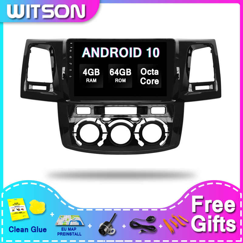 WITSON GRANDE SCHERMO Android 10 Video Car Audio PER TOYOTA HILUX 2012 (Manuale Air-Conditioner versione) 4RAM 64ROM